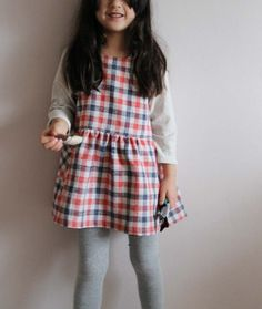 plaid tunic from japanese pattern book