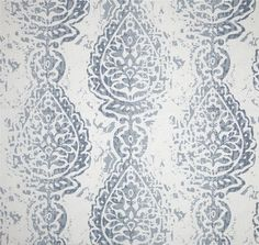 Pillow Cover - Cashmere blue - Manchester Print - Damask - Ikat - Throw pillow cover - Lumbar pillow cover - Body pillow Case