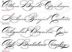Tattoo Lettering Simple Cursive