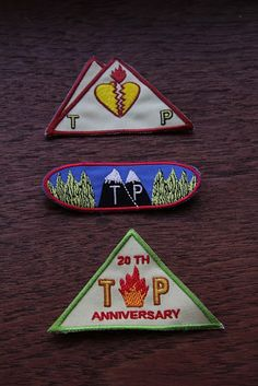 Twin Peaks 20th aniversary merit badges ... a couple houses from our small town in Washington were used for the show ..