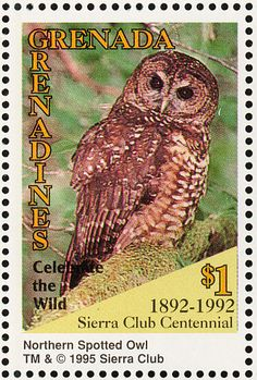 Spotted Owl stamps - mainly images - gallery format