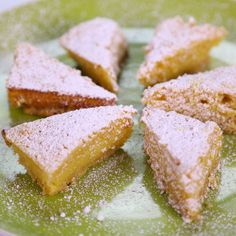 the chew | Recipe  | Daphne Oz's Reduced Guilt Triple Lemon Bars My thoughts: these are pretty tasty. I especially like the hint coconut in the crust. Mine didn't turn out so custardy - I probably baked too long.