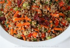 A Little Bit Crunchy A Little Bit Rock and Roll: Lentil Salad with Quinoa and Maple-Balsamic Vinaigrette