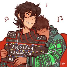 I cradled you in my arms! : holy shit Keith with a Stranger Things sweater i'm crying omg Photo