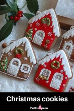 Christmas Home Cookies decor Get inspired for Christmas! Cookie cuttter #cookiecutter #christmashome #putonapron