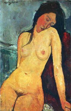 Seated female nude (1916), Amedeo Modigliani
