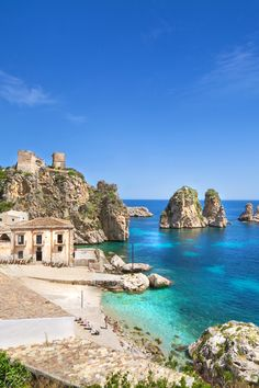 Tonnara di scopello, trapani, sicily places i love travel, italy vacation, sici Italy Vacation, Vacation Destinations, Dream Vacations, Vacation Spots, Italy Travel, Italy Tourism, Italy Trip, Places Around The World, The Places Youll Go