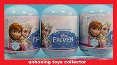 Disney Frozen Fever Fun Toys Surprise Eggs Review Including Olaf's PEZ +...