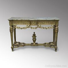 Louis XIV-style Giltwood Console Table - Antiques Atlas