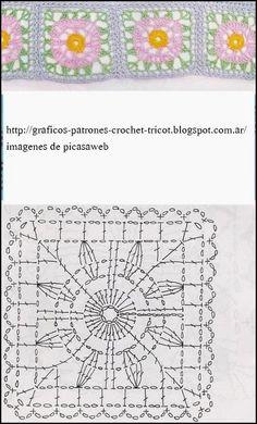 PATRONES - CROCHET - GANCHILLO - GRAFICOS: GRANNY , TEJIDOS A GANCHILLO CON SUS PATRONES