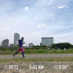 . 今日はトレッドミルで30分のjog . picは一昨日の多摩川ランを別角度で . しばらく大会がないから練習メニューに迷う 秋までのスケジュール作った方がいいかな . #ランニング #running  #nikirunning #nikiplus  #JINSMEME  #LiveRun  #ハシリマシタグラム  #runjog  #2016-2017シーズン  #東北みやぎ復興マラソン #横浜マラソン #中止 #川崎国際多摩川ハーフマラソン  #湘南国際マラソン #赤羽ハーフマラソン  #館山若潮マラソン  #青梅マラソン  #大山登山マラソン  #板橋シティマラソン  #かすみがうらマラソン  #柴又100k  #トレッドミル  #jog  #多摩川ラン