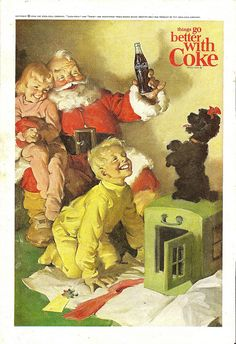 Vintage Coke Coca-Cola Santa ad by Mr. Beaverhousen, via Flickr