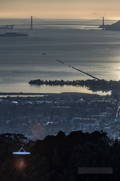 Berkeley, California from Grizzly Peak, the Bay, and the Farallones about 30 miles beyond the Golden Gate by Ira Serkes.