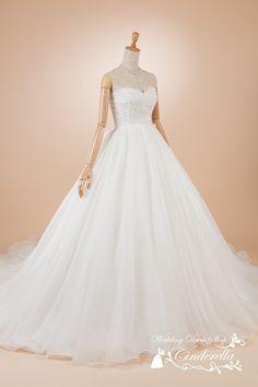 ウェディングドレス プリンセスライン オーガンジー