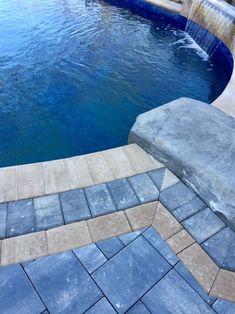 Cambridge Pavers Montauk Blue Ledgestone Pool Patio - Miller Place, NY 11764