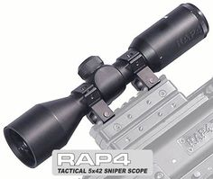 Tactical 5x42 Sniper Scope for Tippmann 98 - paintball sight by Rap4. $68.40. Powerful rifle scope with 600 feet range. This scope is best use for sniper and to locate your opponent's location. Features come with : - 1x Lens cover - 2x Ring Mount - light and compact design