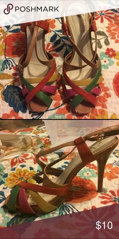 Nine West colorful heels Used, good condition Nine West Shoes Heels
