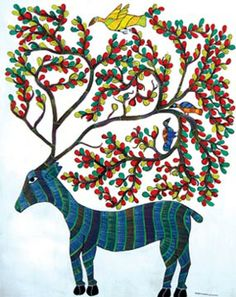 Indian Art: Gond Art (Madhya Pradesh)