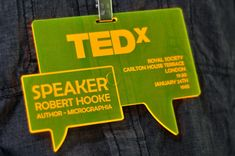 Fluorescent Yellow Conference Badges - Custom Laser Engraving