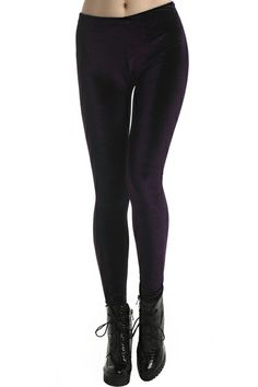 Pleuche Violet Leggings. Description  Violet Leggings, featuring an elasticated, pleuche fabric, a delicate length and a soft touch. Fabric Cotton. Washing 43 degree machine wash, low iron. #Romwe