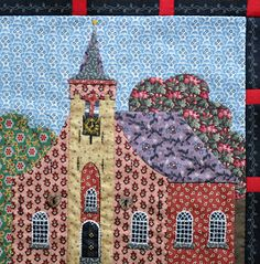 Building houses from scraps: Tussenbiesjes & hoekblokjes - Sashings & Corner Stones Dog Quilts, Scrappy Quilts, Barn Quilts, Sewing Appliques, Applique Patterns, Quilt Patterns, House Quilt Block, Quilt Blocks, Fabric Pictures