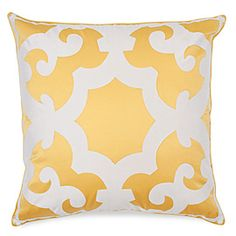 I love this pillow from Z Gallerie. Not only does the deisgn give a quirky elegance, but the yellow and white colors immediatly draw me in. Couch Pillows, Throw Pillows, Peacock Blue Bedroom, Black And White Colour, White Colors, Diy Crafts For Adults, Yellow Umbrella, Affordable Modern Furniture, Yellow Pillows