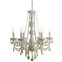 White chandelier