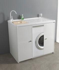 Mobile lavatrice e lavatoio con ante Jose 107