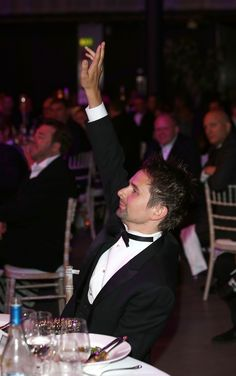 MUSE : Matthew Bellamy & Kate Hudson_08 July 2013 - Novak Djokovic Foundation Dinner, London