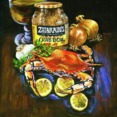 Crab Fixin's Painting - Crab Fixins Fine Art Print - Dianne Parks