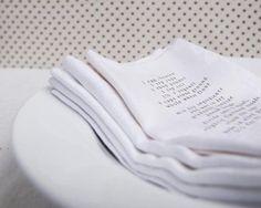 napkins.