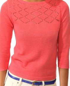 Buttoned Back Sweater - Color: Coral - Size: Small $24.80