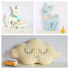 Me encantan estos cervatillos y las nubes de ZÜ  http://www.zu-boutique.com/category/textile-faons