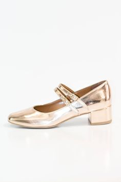 3e67fec443a Lady Doc Metallic Leather Ballerina
