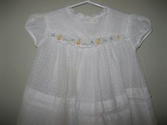 Green Baby Dress Size 6 Months 1950/'s Kate Greenaway Mint Green and White Baby Girl Dress Vintage Baby Dress Vintage Baby Clothes