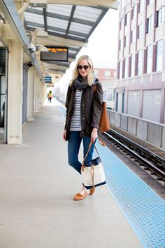 Barbour Jacket c/o / J.Crew Jeans and Earrings / L.L.Bean Signature Mocs, Shirt (Also love this one) and Bag (Sold out, but see the whole Somerset collection here) c/o / Madewell Tote(Also available via Shopbop) / Cuyana Scarf c/o / Daniel Wellington Watch c/o / Kate Spade Bangle (Old, but love the Sailor's Knot version!)…