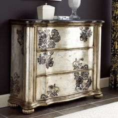 Hammary Hidden Treasures 3 Drawer Stone Top Accent Chest - - Lowest price online on all Hammary Hidden Treasures 3 Drawer Stone Top Accent Chest - Hand Painted Furniture, Distressed Furniture, Refurbished Furniture, Paint Furniture, Repurposed Furniture, Furniture Projects, Furniture Makeover, Home Furniture, Furniture Vintage