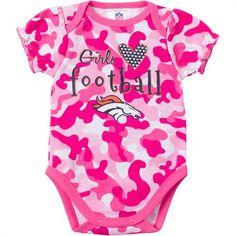 Baby Broncos Fan Pink Camo Onesie Broncos Logo 70b67ea0c