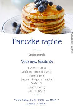 Pancake rapide Pancake rapide,Brunch & petit déjeuner recette pancakes, pancake facile, pancake rapide and Drink Greek Yogurt Pancakes, Low Carb Pancakes, Pancakes Easy, Buttermilk Pancakes, Blueberry Pancakes, Fluffy Pancakes, Ricotta Pancakes, Protein Pancakes, Pancake Toppings