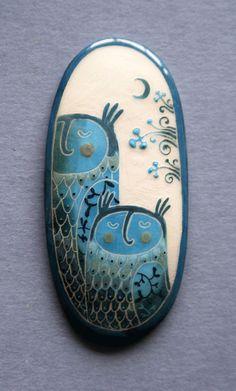 Baubukas - Night owls brooch