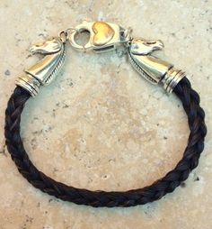 Braided 6 Strand Horsehair Bracelet with Horse End by JaxSnacks, $58.00