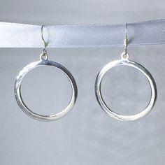 Large Silver Ring Drop Earrings #earrings #jewellery #silver