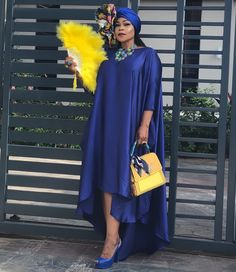 is giving us all the vibes in this metallic blue high low shift dress for - African Maxi Dresses, Latest African Fashion Dresses, African Print Fashion, Africa Fashion, African Attire, African Wear, Stylish Dresses, Elegant Dresses, Look Fashion