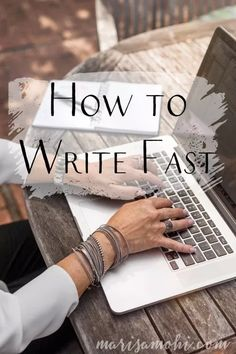 How to Write Fast Book Writing Tips, Blog Writing, Writing Help, Writing Skills, Creative Writing, Writing Prompts, Writing Ideas, Writing Goals, Writer Tips