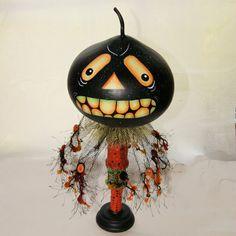 Gourd, Halloween Gourd Head Haunted Swamp Holiday Home Decor Gourd Doll Figure, Gourd Art