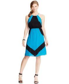 XOXO Juniors' Geometric Colorblock Dress