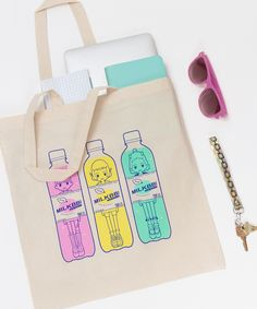 Get ready for the weekend with the new Sport Drink tote bag by MILKBBI!