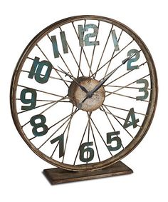This Tabletop Bicycle Wheel Clock is perfect! #zulilyfinds