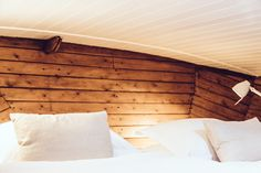 wood and white bedroom