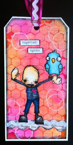 Artwork created by Corrie Herriman using rubber stamps designed by Daniel Torrente for Stampotique Originals